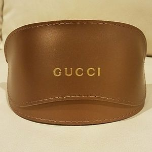 Large Gucci Leather Glasses or Sunglasses Case